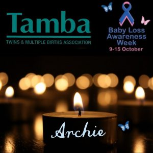 Facebook profile picture during Baby Loss Awareness Week